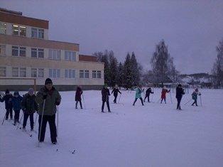 Тренировочные занятия по лыжам
